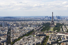 Aerial view of Paris, France from Montparnasse. Aerial view of Paris, France Royalty Free Stock Photography