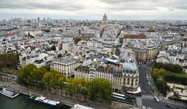 Aerial view of Paris, France royalty free stock image