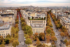 Aerial view of Paris, France Royalty Free Stock Photo