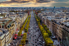 Aerial view of Paris, France Royalty Free Stock Photography