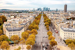 Aerial view of Paris, France Royalty Free Stock Images