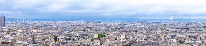 Aerial view of Paris, France Panorama Stock Photo