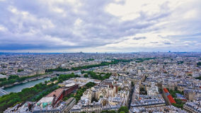 Aerial view of Paris, France Panorama Stock Images