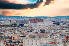 Aerial view of Paris, France Stock Photo