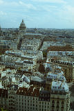 Aerial View of Paris, France, Panthéon in Sight. From the rooftops of Paris, the Panthéon emerges to tower above the Latin Quarter royalty free stock photography