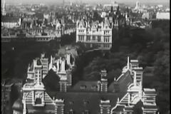 Aerial view of Paris, France, 1940s stock video footage