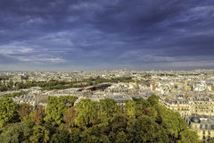 Aerial view of Paris , France Royalty Free Stock Photo