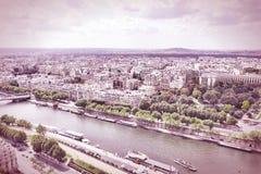 Aerial view of Paris Stock Images