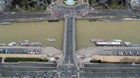 Aerial View of Paris, France Stock Photos
