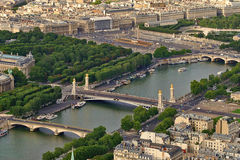 Aerial view of Paris, France. Stock Photos