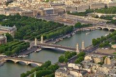 Aerial view of Paris, France. Stock Photos