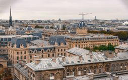 Aerial view of Paris with its typical building stock photography