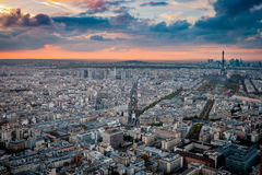 Aerial view of Paris from Montparnasse Tower. Stock Photography