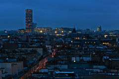 aerial view of Paris at night Stock Images