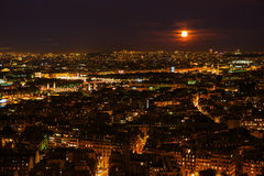 Aerial view of Paris at night. Aerial view of Paris, France, at night Stock Image