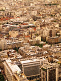Aerial view of Paris. Aerial view of a Parisian neighbourhood Royalty Free Stock Photography