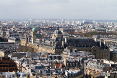 Aerial view of Paris roofs Royalty Free Stock Photos