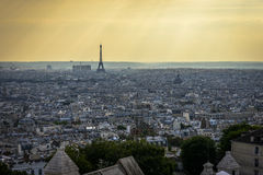 Aerial View of Paris from Sacre-C�ur Royalty Free Stock Images