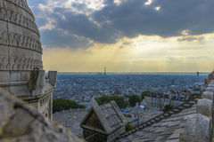 Aerial View of Paris from Sacre-C�ur Royalty Free Stock Photos