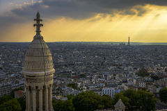 Aerial View of Paris from Sacre-C�ur Stock Photo