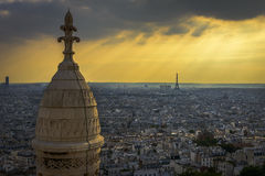 Aerial View of Paris from Sacre-C�ur Stock Image