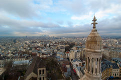 Aerial view of Paris. View of Paris from Sacre Coeur Basilica Royalty Free Stock Photo