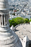 Aerial view of Paris from Sacre Coeur Stock Photo