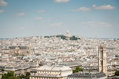 Aerial view of Paris with Sacre-Couer Royalty Free Stock Photo