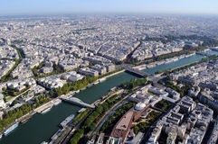 Aerial view of Paris with Seine river, France Stock Photo