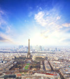 Aerial View of Paris skyline and Eiffel tower, France. Stock Photo