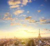 Aerial View of Paris skyline and Eiffel tower, France. Stock Images
