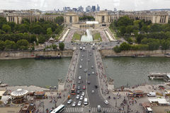 Aerial View of Paris skyline and River Seine from Eiffel Tower, Paris France - shot August 5, 2015 Stock Photography