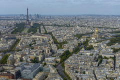 Aerial view of Paris taken from Montparnasse Tower Stock Photography