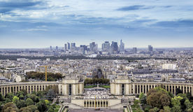 Aerial view of Paris Stock Photo