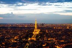 Aerial view Paris Stock Image