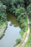 Aerial view of park in Curitiba Stock Photography