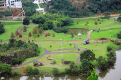 Aerial view of park in Curitiba Stock Image