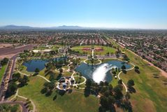 Aerial View of the Park royalty free stock images