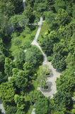 Aerial view of Park Royalty Free Stock Photos