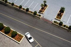 Aerial View of Parking Lot Stock Photography