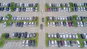 Aerial view of parking lot Stock Image