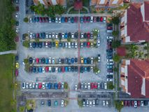Parking Lot. Aerial View Of Parking Lot Stock Photography