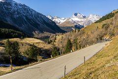 Aerial view of pass Albula in Switzerland Royalty Free Stock Photos