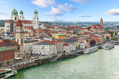 Aerial view of Passau, Germany Stock Image