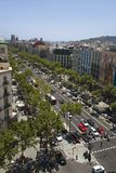 Aerial view of Passeig de Gr�cia street in the Eixample district, Barcelona, Spain, Europe Stock Photos