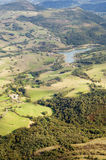 Aerial view of pastures and forests Royalty Free Stock Photo