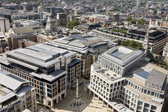 Aerial view with paternoster square from London UK Royalty Free Stock Image
