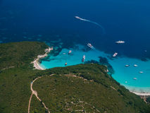 Aerial view of Paxos island Stock Photo