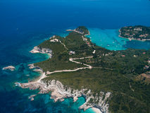 Aerial view of Paxos island Royalty Free Stock Images
