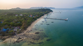 Aerial view of payam island ranong andaman sea southern of thail Stock Image